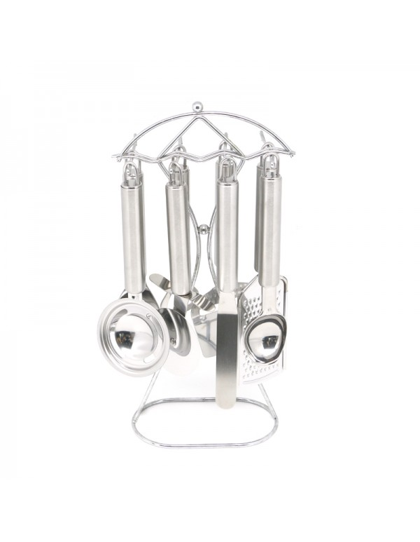 Stainless Steel Home And Industry Use Kitchen Utensils And Gadgets Set With Stand RL-KG005