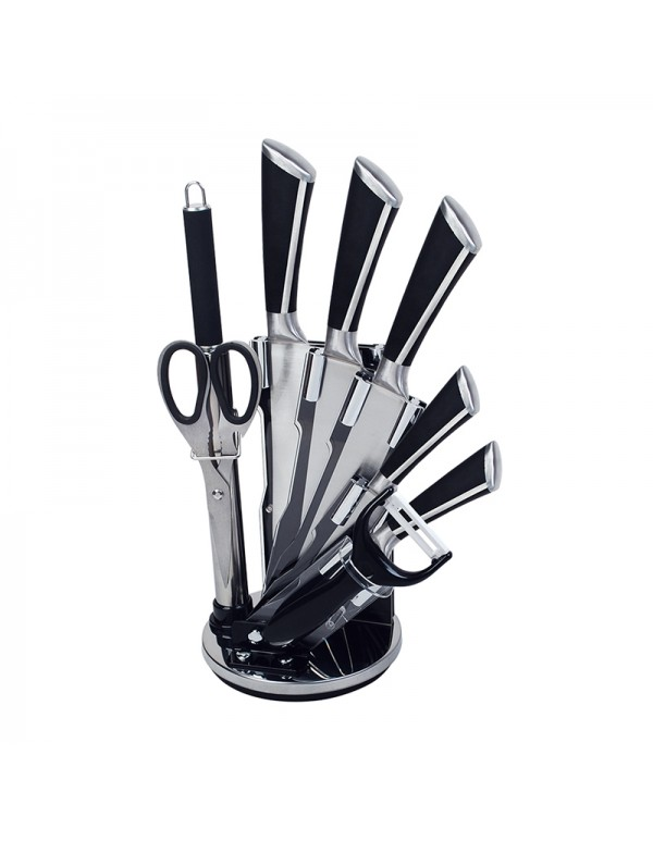 Stainless Steel Home Kitchen Tool Hollow Handle Knife Set With Stand RL-KF003
