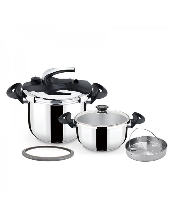 Stainless Steel Steam High Pressure Cooker Industrial Food Cooker RL-PC006